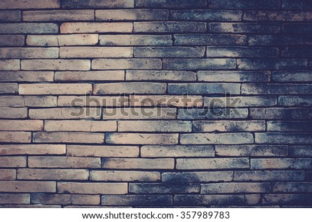 Old brick wall texture in a vintage, retro background