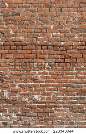 Old Brick Wall - Vertical Background Texture - stock photo