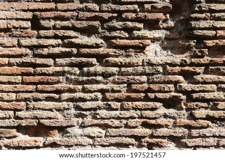 Old  brick wall, vintage background