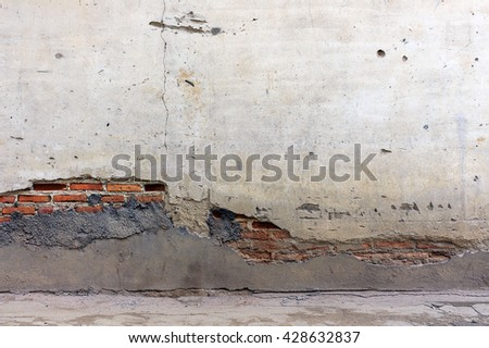 old brick wall with cracks texture background