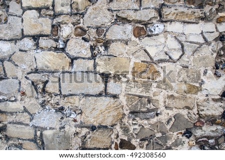 Old brick wall with patterns and texture