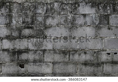 Old brick walls of aerated
