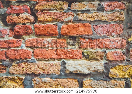 old bricks wall as a background - stock photo