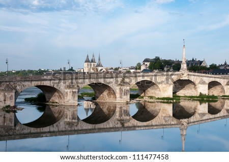 Old Bridge in Blois, France