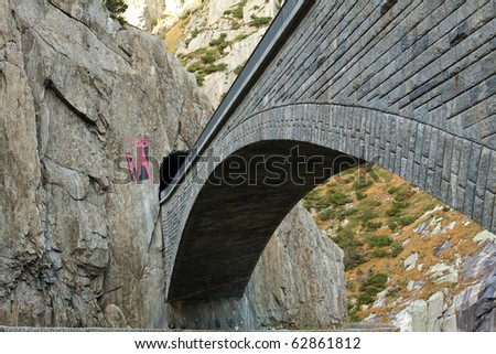 old bridge in mountains