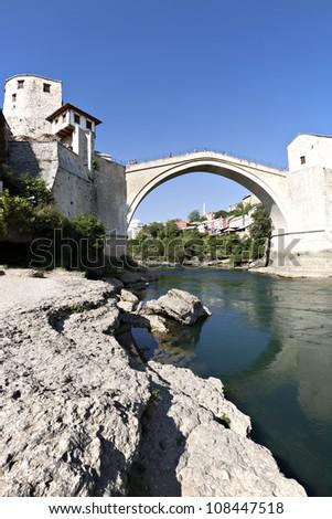 Old Bridge, Mostar, Bosnia and Herzegovina - stock photo