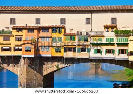 Old bridge -  Ponte Vecchio in Florence, Tuscany, Italy - stock photo