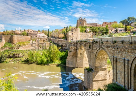 Old bridge San Martin in Toledo - Spain
