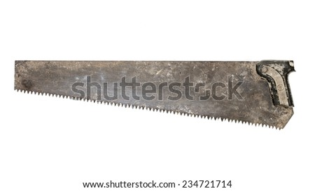 old broken hand saw