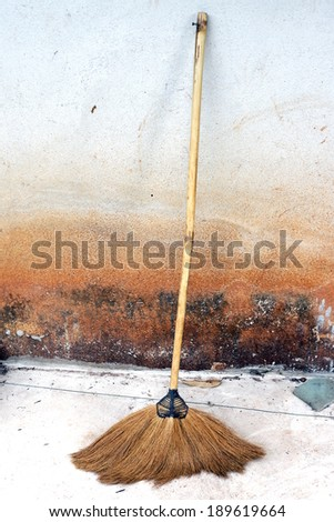 Old Broom - stock photo