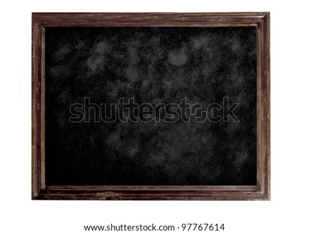 Old brown blank dirty blackboard - stock photo