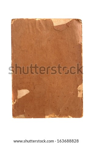 Old brown book isolated on white background - stock photo