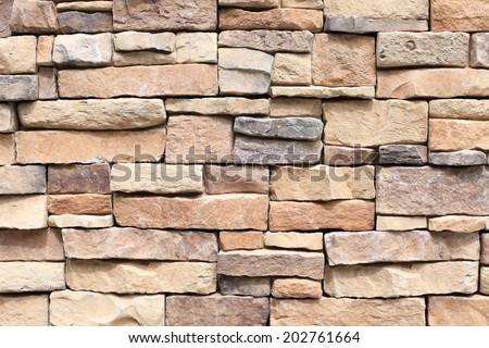 Old Brown Bricks Wall Pattern. - stock photo