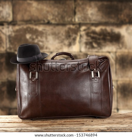 old brown case  - stock photo