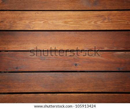 old brown ship floor closeup - stock photo