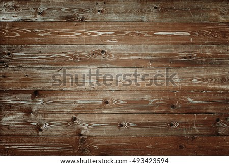 Old brown wood planks background