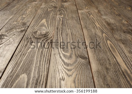 Old brushed wooden surface - stock photo
