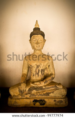 Old buddha - stock photo