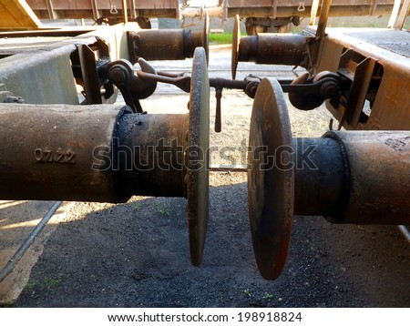 old buffer in a railway carriage - stock photo