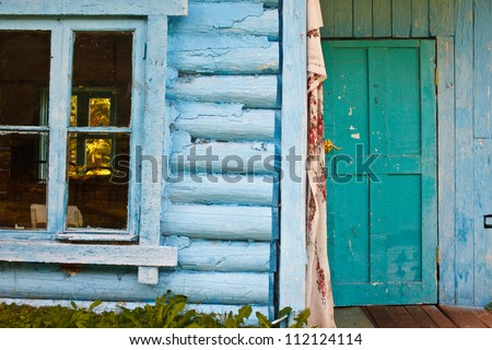 old building in the camp - stock photo
