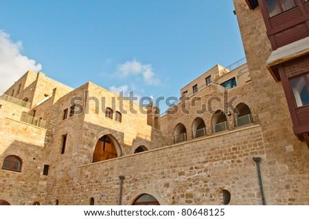 old building, jaffa (tel aviv) - stock photo