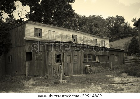 Old building on farm in Missouri