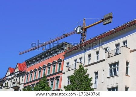 Old Building Renovation - stock photo