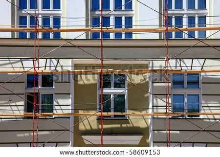 Old building under restoration - stock photo