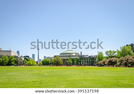 Old buildings at the University of Toronto in Ontario, Canada - stock photo