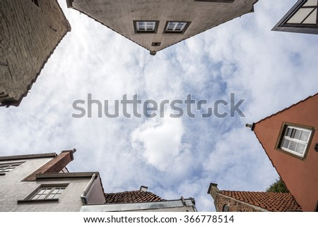 Old buildings in Bremen, Germany - stock photo