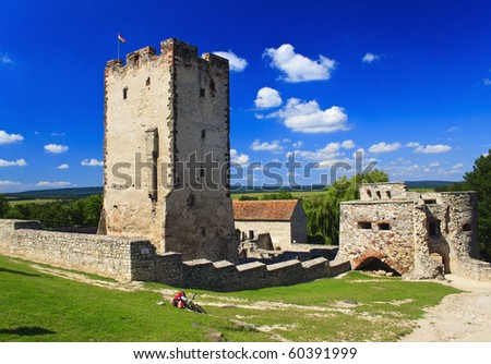 Old burg in Nagyvazsony in sommer, Hungary - stock photo