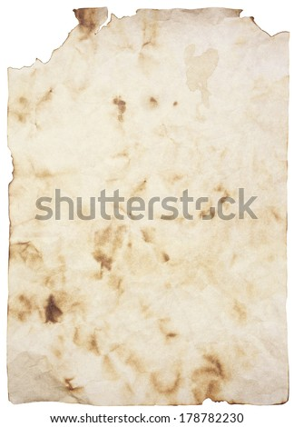 old burned paper - stock photo