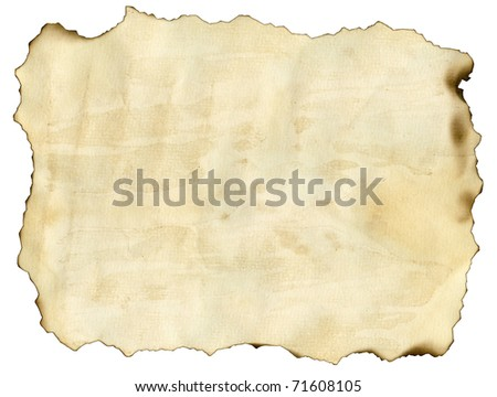 Old burnt grunge paper background