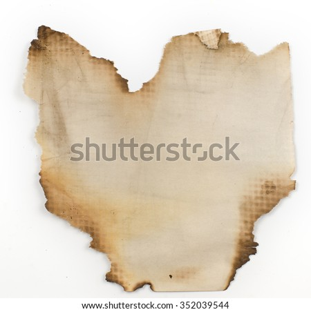 old, burnt on the edges of the sheet of paper. Like an old parchment, on which the pirates drew a treasure map.