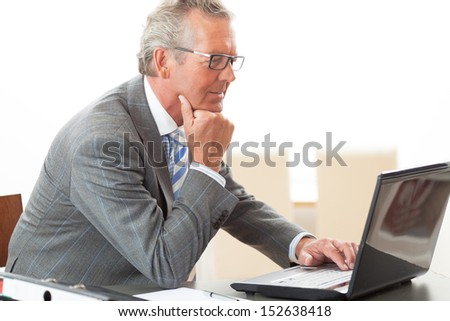 old business man - stock photo
