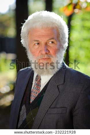 Old businessman - stock photo