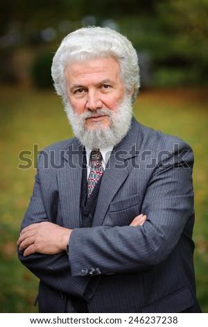 Old businessman - stock photo