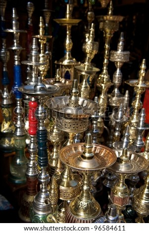 Old Cairo street market - stock photo