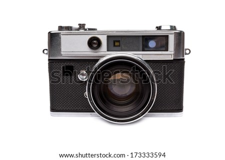Old camera isolated - stock photo