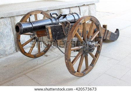 Old cannon in the Izmailovo Kremlin in Moscow