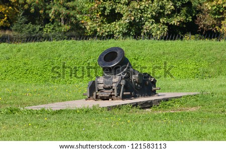 old cannon in the park museum, Sankt-peterburg