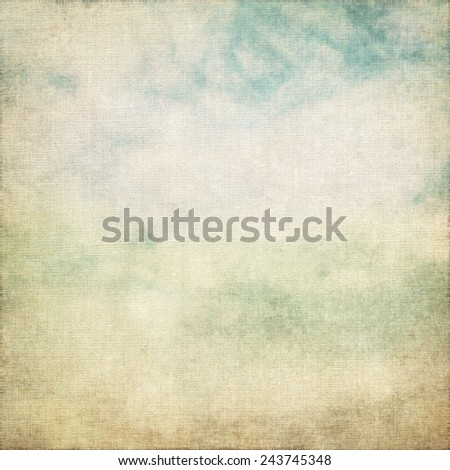 old canvas paper texture grunge background and white clouds abstract scenery - stock photo