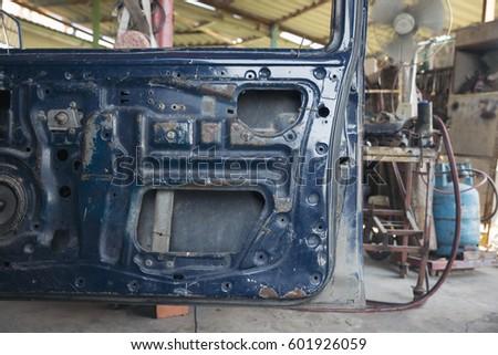 Old Car Door Garage Just Car Stock Photo 601926059 Shutterstock