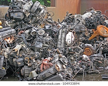 old car parts - stock photo