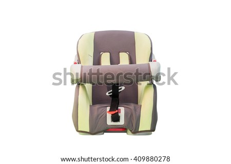 Old car seat. Isolated with clipping path. - stock photo