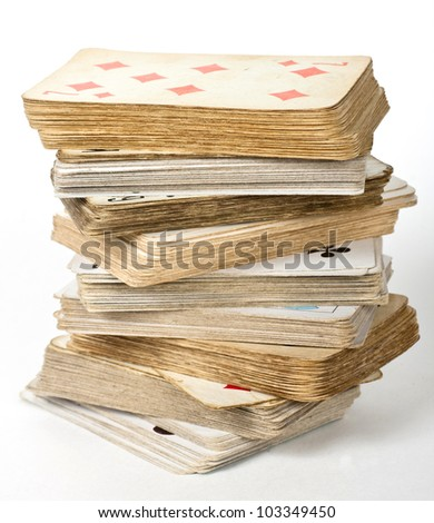 old card game - stock photo