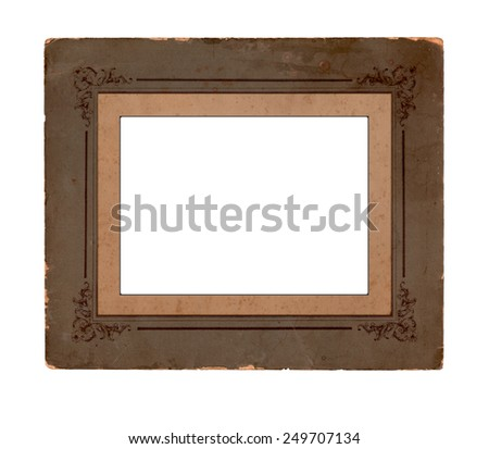 Old cardboard frame with floral ornament