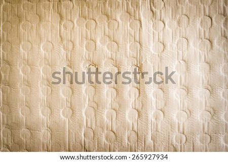 Old Cardboard with Circles Impress Texture Background - stock photo