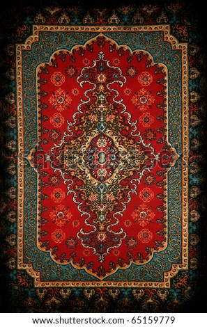 Old carpet - stock photo