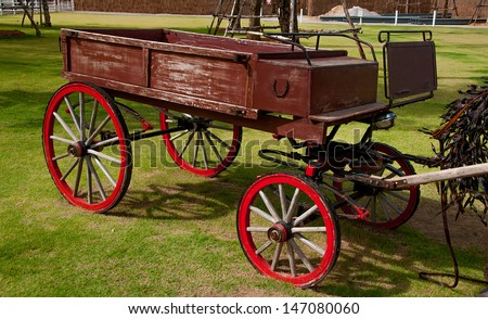 Old carriage cart - stock photo